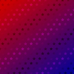 Abstract stars pattern on red gradient color background.