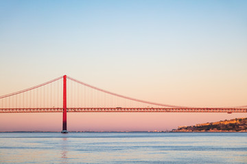 April 25th Bridge at Twilight in Lisbon, Portugal