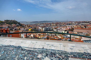Lisbon view from Senhora do Monte