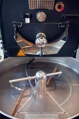 Photo of empty iron machine for roasting coffee