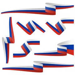 collection of russian country flag banners