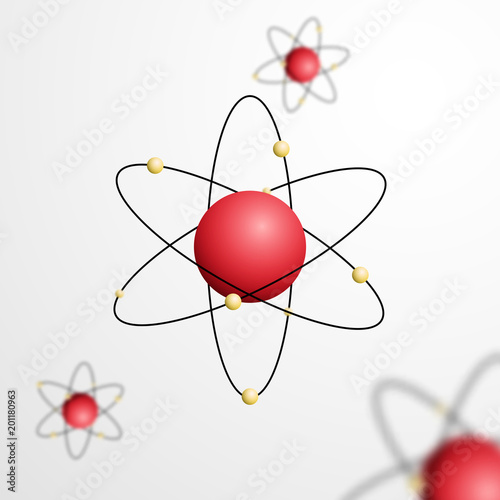 Abstract atom with core and orbits with electrons vector abstract atom with core and orbits with electrons vector illustration 3d chemical technology concept ccuart Images