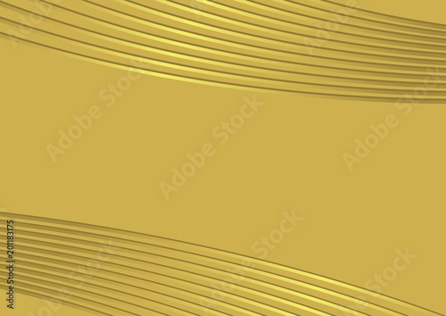 Elegant golden background with golden wire patterns. Copy space ...