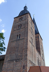 Altenburg / Germany: The so called Red Spires of the former collegiate church of the Virgin Mary