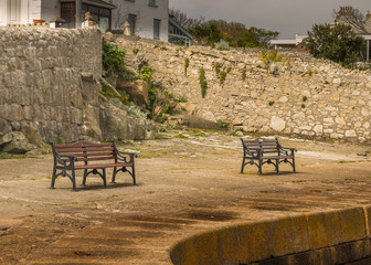 Peacful benches to watch the sea