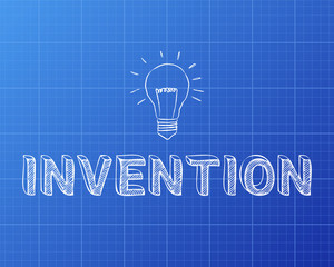 Invention Light Bulb Blueprint