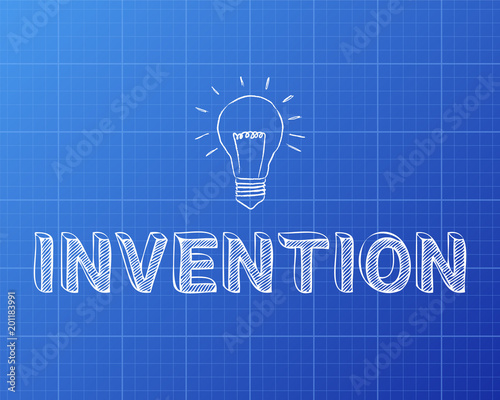 Invention light bulb blueprint stock image and royalty free vector invention light bulb blueprint malvernweather Images