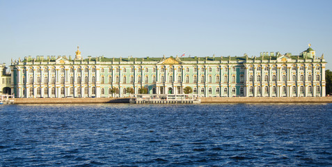 Saint Petersburg. Russia. August, 2015: View of the river Neva on a summer day