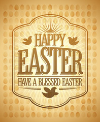 Happy Easter card, have a blessed day quote