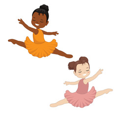 Little ballerina dancing
