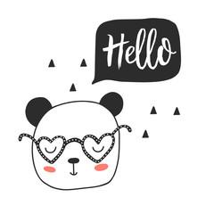 Panda bear. Hello