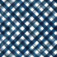 Striped grunge black and white seamless pattern
