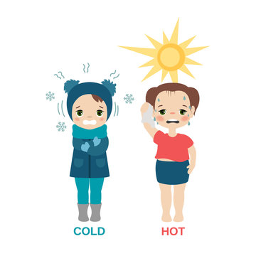 Hot and cold girl.