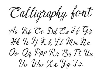 font calligraphy black