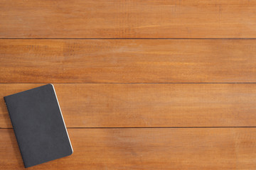 Minimal work space - Creative flat lay photo of workspace desk. Office desk wooden table background with mock up notebooks. Top view with copy space, flat lay photography.