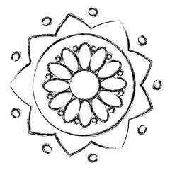 flower ethnicity decorative icon vector illustration design