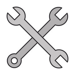 wrench keys crossed isolated icon vector illustration design