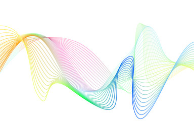 rainbow color abstract wave background template full spectrum stripes