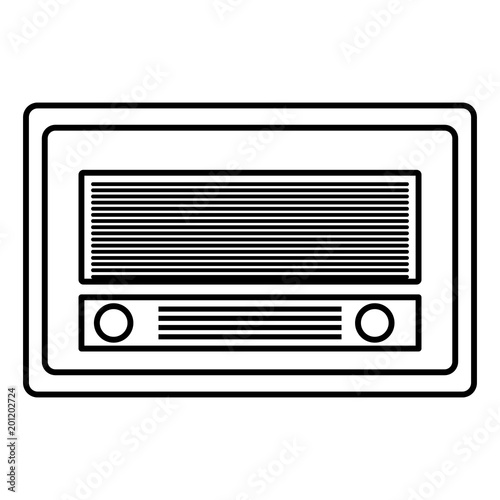 old radio vintage style vector illustration design