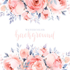 Dusty rose watercolor background