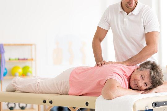 Rehabilitation of elder woman