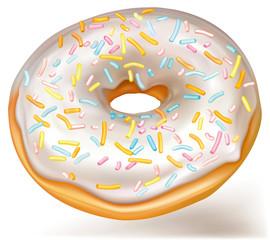 White donut white glaze