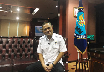 Chief of the National Narcotics Agency Heru Winarko attends an interview with Reuters at the agency's headquarters in Jakarta