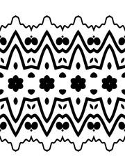 Seamless decorative pattern in a blck - white colors