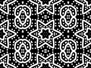 Seamlesss pattern in a black - white colors