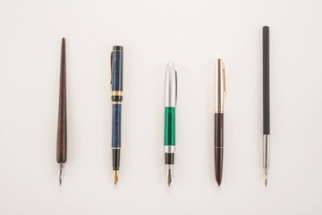 Set of different pens