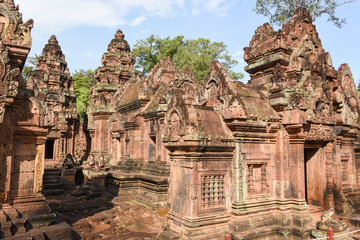 Banteay Srei temple at Siem Reap, Cambodia.