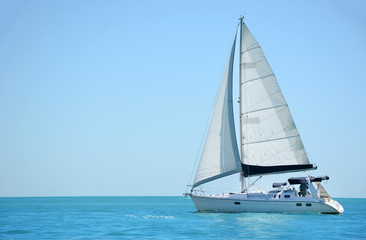 sailboat on the ocean gulf of mexico