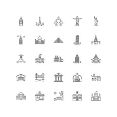 city outline icons 25