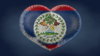 Cuore bandiera del Belize.
