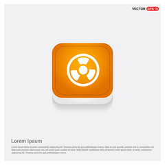 Radiation Fan Orange Abstract Web Button