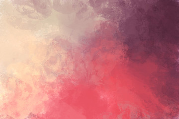 Red abstract background. Digital painting
