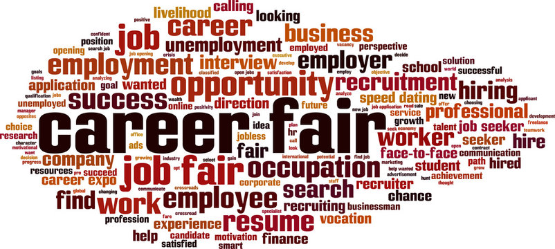 Career fair word cloud