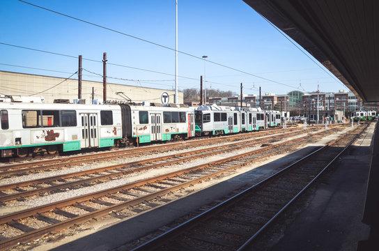 Green Line at Riverside Station