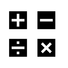 Math symbols vector and Math icons