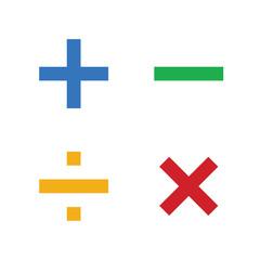 Math symbols vectorand Math icons