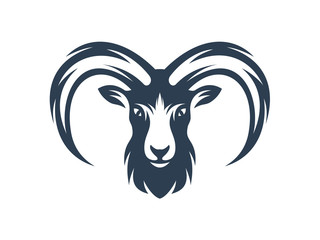 goat logo vector illustration, head goat   icon vector