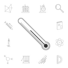Temperature icon. Detailed set of Science and lab illustrations. Premium quality graphic design icon. One of the collection icons for websites, web design, mobile app