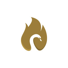 Goose on the fire logo template vector illustration