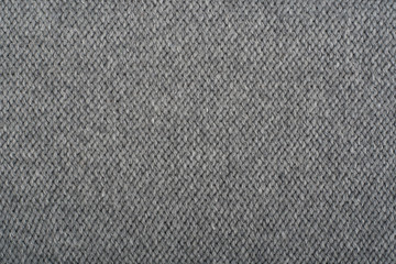Sweater or scarf fabric texture large knitting. Knitted jersey background with a relief pattern. Wool hand- machine, handmade, gray.