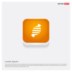 Candy Icon Orange Abstract Web Button