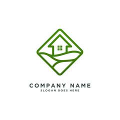green house logo template vector illustration
