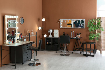Hairdresser's workplace in beauty salon