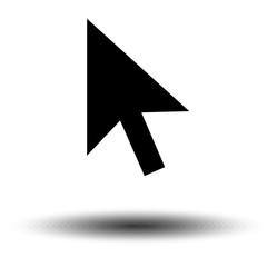 Pointer Icon isolated on grey background. Line Cursor symbol for web site design, logo, app, UI. Editable stroke. Vector illustration. EPS10