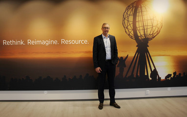 Tomra CEO Stefan Ranstrand poses at the company's headquarters in Oslo