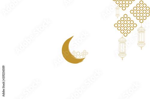 ramadan kareem greeting card template islamic crescent moon